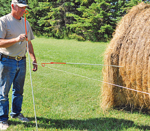 Bale Grazing Stick Electric Fence Wire Or Barbed Wire